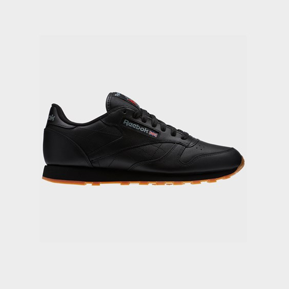 Reebok Mens Reebok Classic Leather - Mens Running Shoes Black/Gum Size 06.5 - 49798