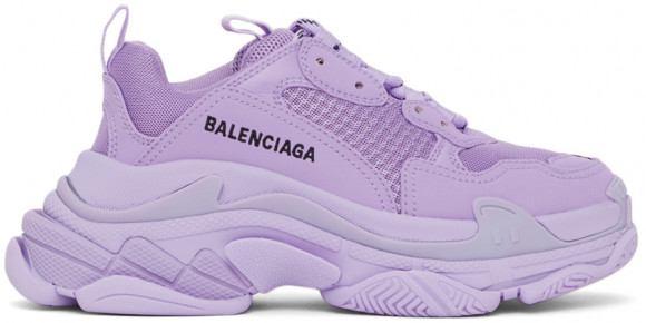 Balenciaga Purple Triple S Sneakers - 524039-W2FW1