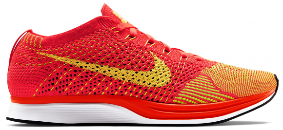 Nike Flyknit Racer Bright Crimson Volt - 526628-601