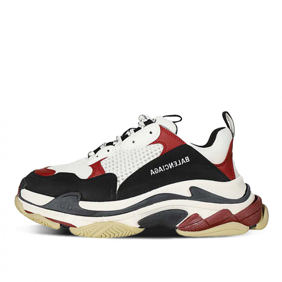 Balenciaga Triple S White Black Crimson - 536737-W09OM-1073