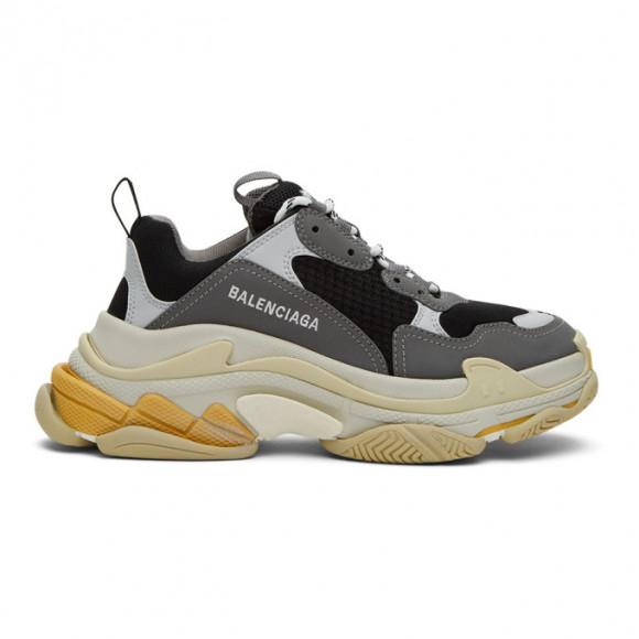 Balenciaga Grey and Black Triple S Sneakers - 536737-W09OM-1258