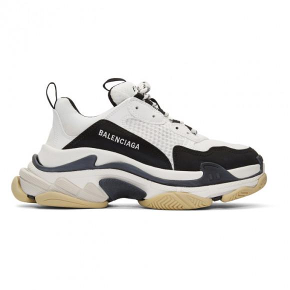 Balenciaga Black and White Triple S Sneakers - 536737-W09OM