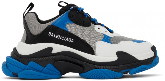 Balenciaga Blue & Black Triple S Sneakers - 536737-W2CA1-4124