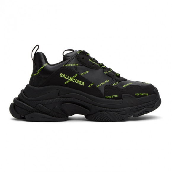 Balenciaga Black Logo Triple S Sneakers - 536737-W2FA1-1070