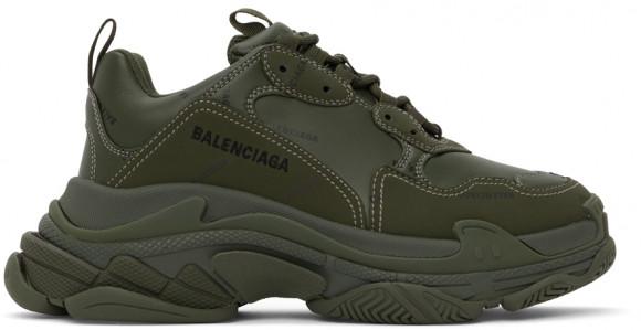 Balenciaga Khaki Allover Logo Triple S Sneakers - 536737-W2FA1-3510