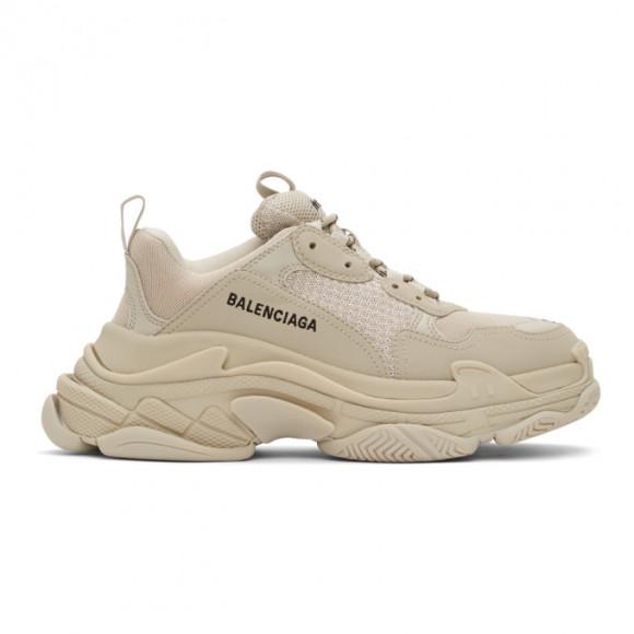 Balenciaga Beige Triple S Sneakers - 536737-W2FW1