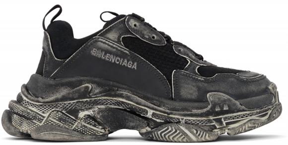 Balenciaga Black Faded Triple S Sneakers - 536737-W3CN3-1000