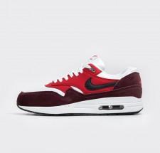 Nike Air Max 1 White Black University Red - 537383-116