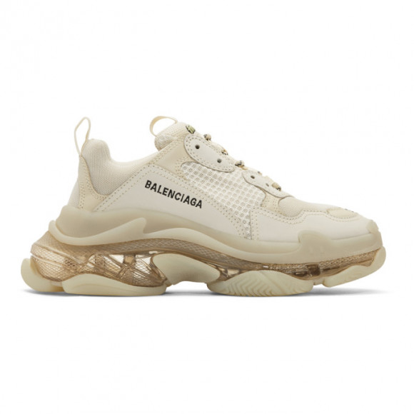 Balenciaga Black Triple S Clear Sole Sneakers - 541624-W09O1