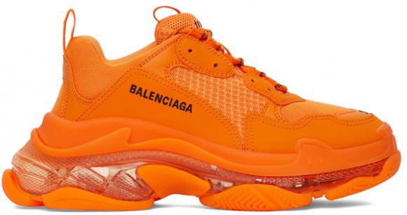 Balenciaga Orange Clear Sole Triple S Sneakers - 541624-W2GA1-7510