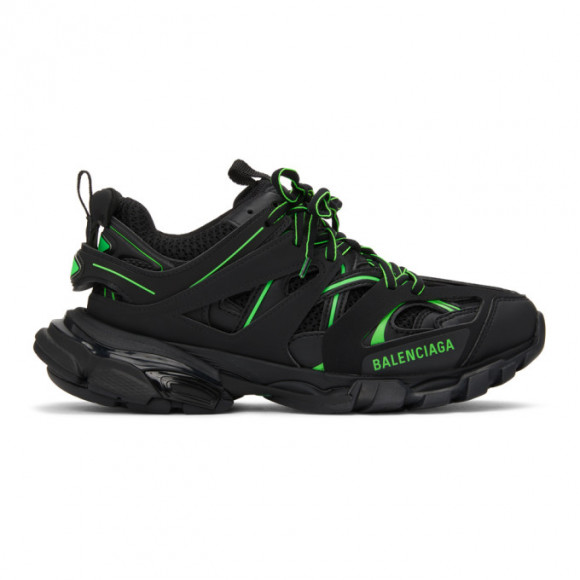 Balenciaga Black and Green Track Sneakers - 542023-W3AC2