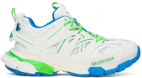 Balenciaga White & Green Track Sneakers - 542023-W3AC4-9034