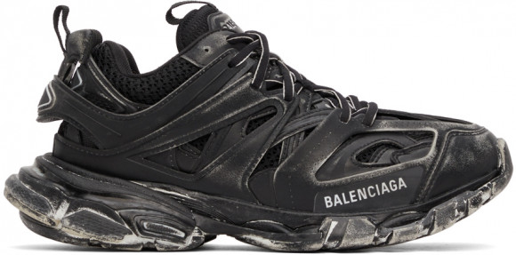 Balenciaga Black Faded Track Sneakers - 542023-W3CN2-1000