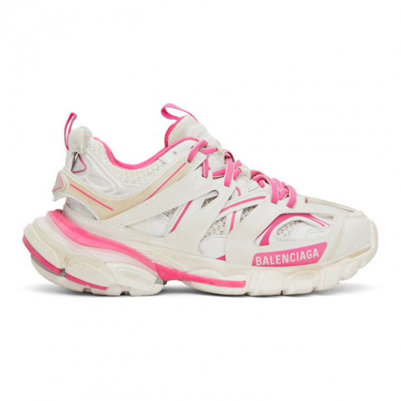Balenciaga Pink and White Track Sneakers - 542436-W1GC3