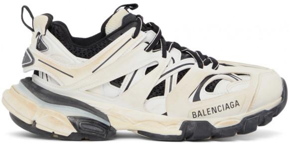 Balenciaga White & Black Track Sneakers - 542436-W1GC4