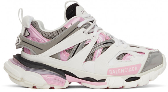 Balenciaga White & Pink Track 2.0 Sneakers - 542436-W2FS9