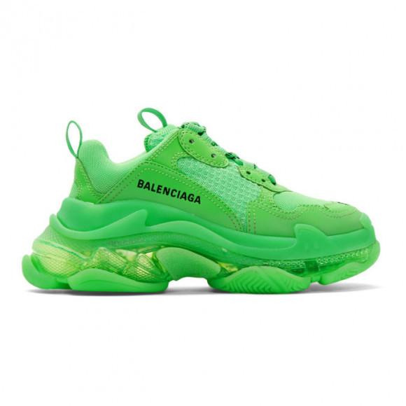 Balenciaga Green Triple S Sneakers - 544351-W2GR1
