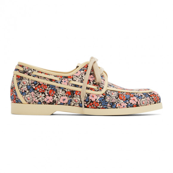 Gucci Multicolor Liberty Edition Floral Boat Shoes - 547641-2HC10
