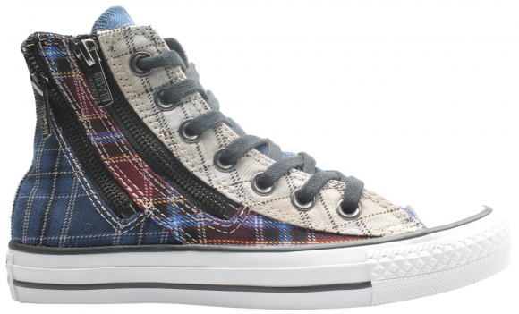 Converse Chuck Taylor All-Star Double Zip Hi Red Blue Plaid (W) - 549575C