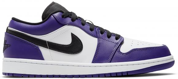 Jordan 1 Low Court Purple White - 553558-500