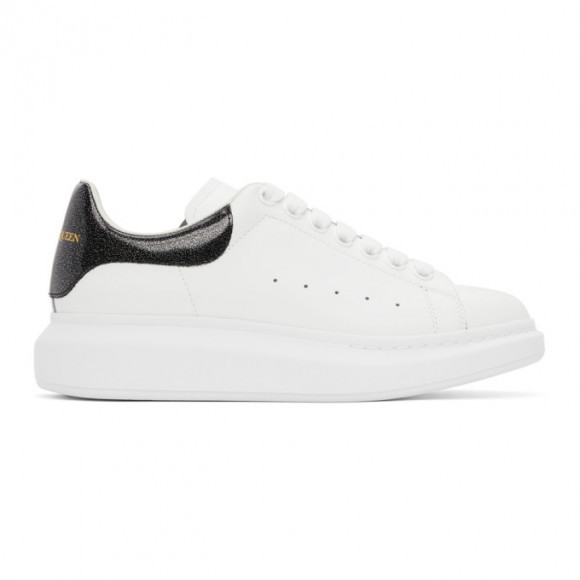 Alexander McQueen SSENSE Exclusive White Iridescent Oversized Sneakers - 553680WIA44