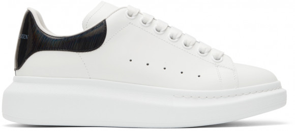 Alexander McQueen White & Black Iridescent Oversized Sneakers - 553680WIA4N