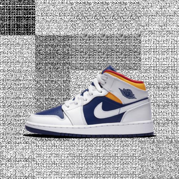 Jordan 1 Mid - Grade School Shoes - 554725-131