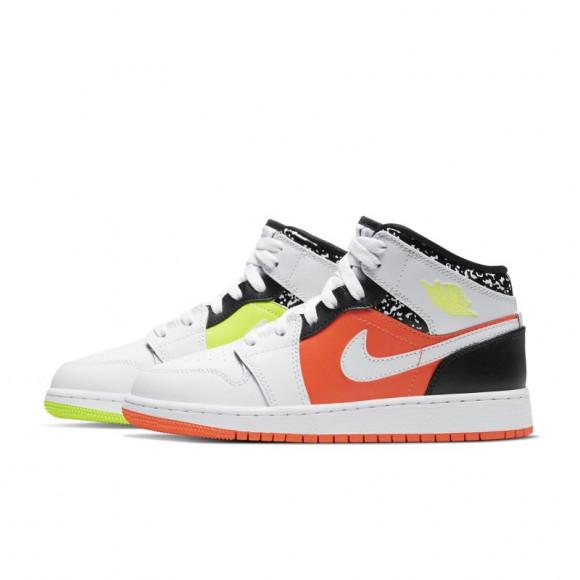 Jordan 1 Mid - Grade School Shoes - 554725-870