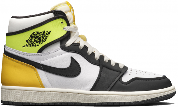 Jordan 1 Retro High White Black Volt University Gold - 555088-118