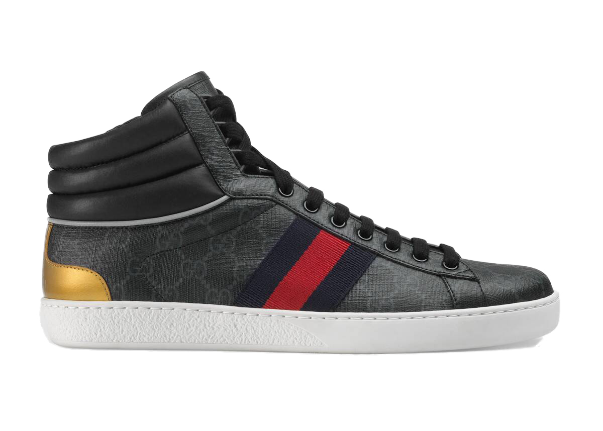 Gucci Ace GG High Top Black - 555197 92T20 1140
