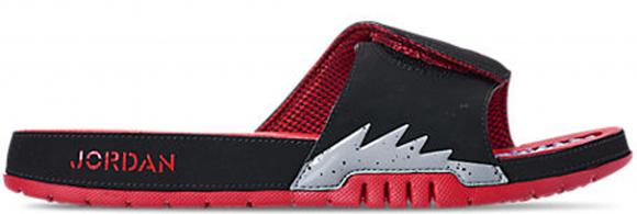 Jordan Hydro 5 Retro Black Particle Grey University Red - 555501-060