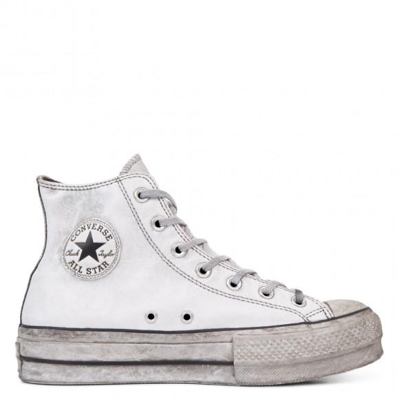 Converse Chuck Taylor All Star Leather Smoke Platform High Top ...