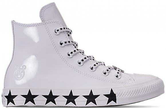 Converse Chuck Taylor All-Star Hi Miley Cyrus White Black Stars (W) - 563719C