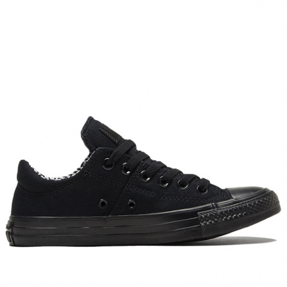 Converse Womens WMNS Chuck Taylor All Star Madison Low 'Black' Black/White/Black Canvas Shoes/Sneakers 565224F - 565224F