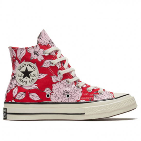 Converse Womens WMNS Chuck 70 High 'Vintage Floral - University Red' 568373C - 568373C