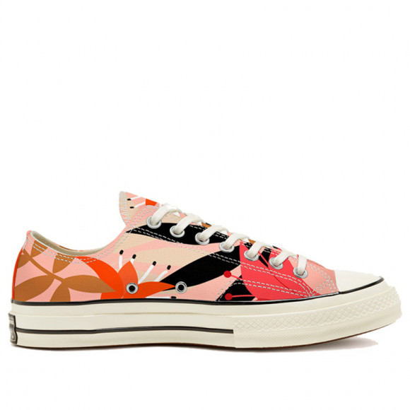 Converse Womens WMNS Chuck 70 Low 'Floral Print' Orange/Pink/Egret Canvas Shoes/Sneakers 568376C - 568376C