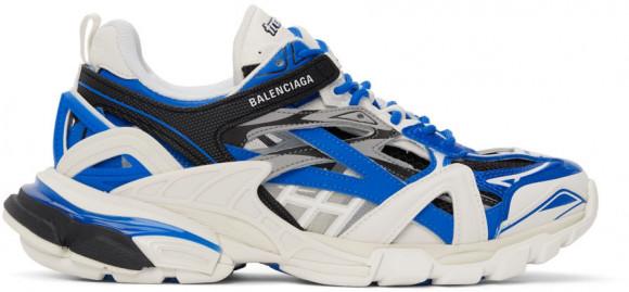 Balenciaga White & Blue Track 2.0 Sneakers - 568614-W3AE2-4191