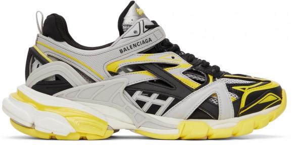 Balenciaga Grey & Yellow Track 2.0 Sneakers - 568614-W3AE3-7290