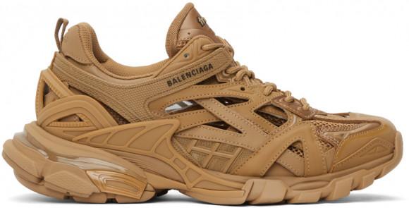 Balenciaga Tan Track.2 Open Sneakers - 568614-W3AG1