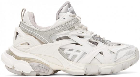 Balenciaga White & Grey Track 2.0 Sneakers - 568615-W3AE1