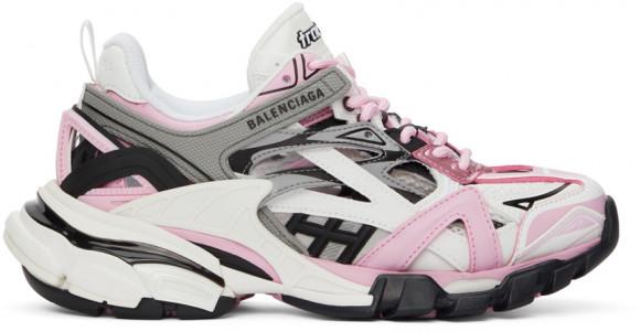 Balenciaga Pink & Grey Track 2.0 Sneakers - 568615-W3AE2