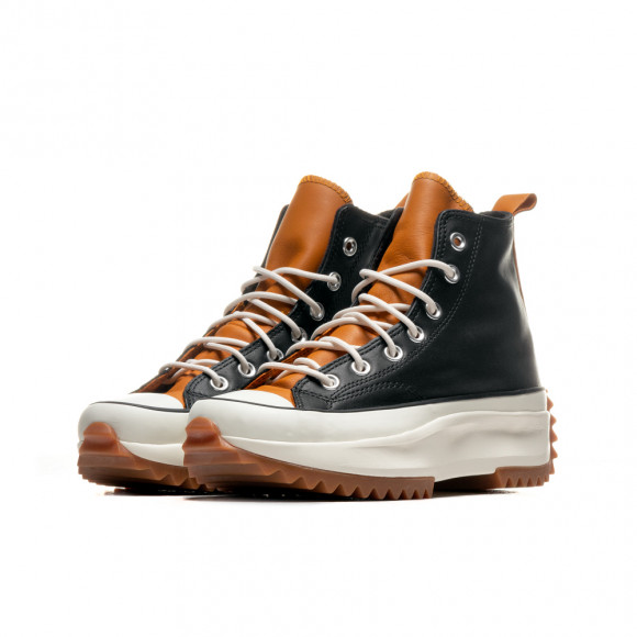 Converse Womens Converse Run Star Hike Leather Hi - Womens Shoes Black/Saffron Yellow/Egret Size 09.5 - 568649C