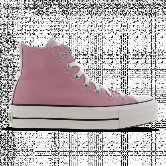 Converse All Star Leather Lift High Platform Dames - Pink/Beige, Pink/Beige