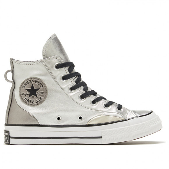 Converse Womens WMNS Chuck 70 High 'Diamond Metal - Silver' Silver/Gold/White Sneakers/Shoes 569432C - 569432C