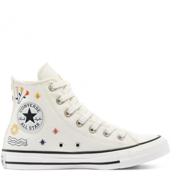 Converse All Star Hi Trainers EGRET VINTAGE WHITE BLACK ANIMAL - 571079C