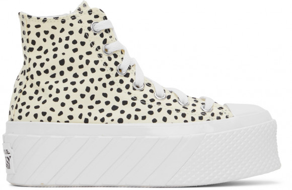 Converse Off-White & Black Surface Platform All Star 2X Hi Sneakers - 572232C