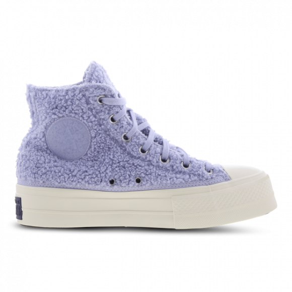 Converse Purple Fleece Chuck Taylor Lift Hi Sneakers - 572240C