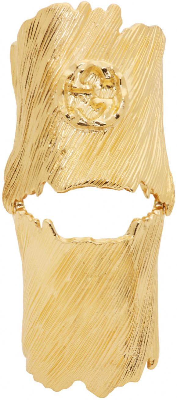 Gucci Gold Interlocking G Ring - 589121-I4600