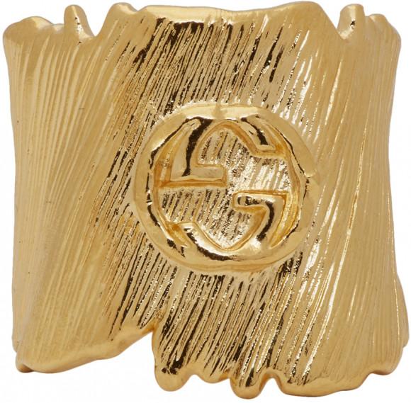 Gucci Gold Small Interlocking G Ring - 589125-I4600