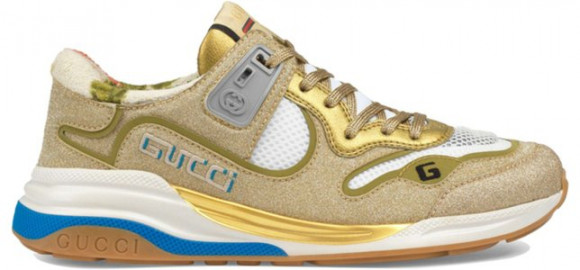 Womens Gucci Ultrapace 'Gold Sparkling Fabric' WMNS Marathon Running Shoes/Sneakers 602228-HW910-8060 - 602228-HW910-8060
